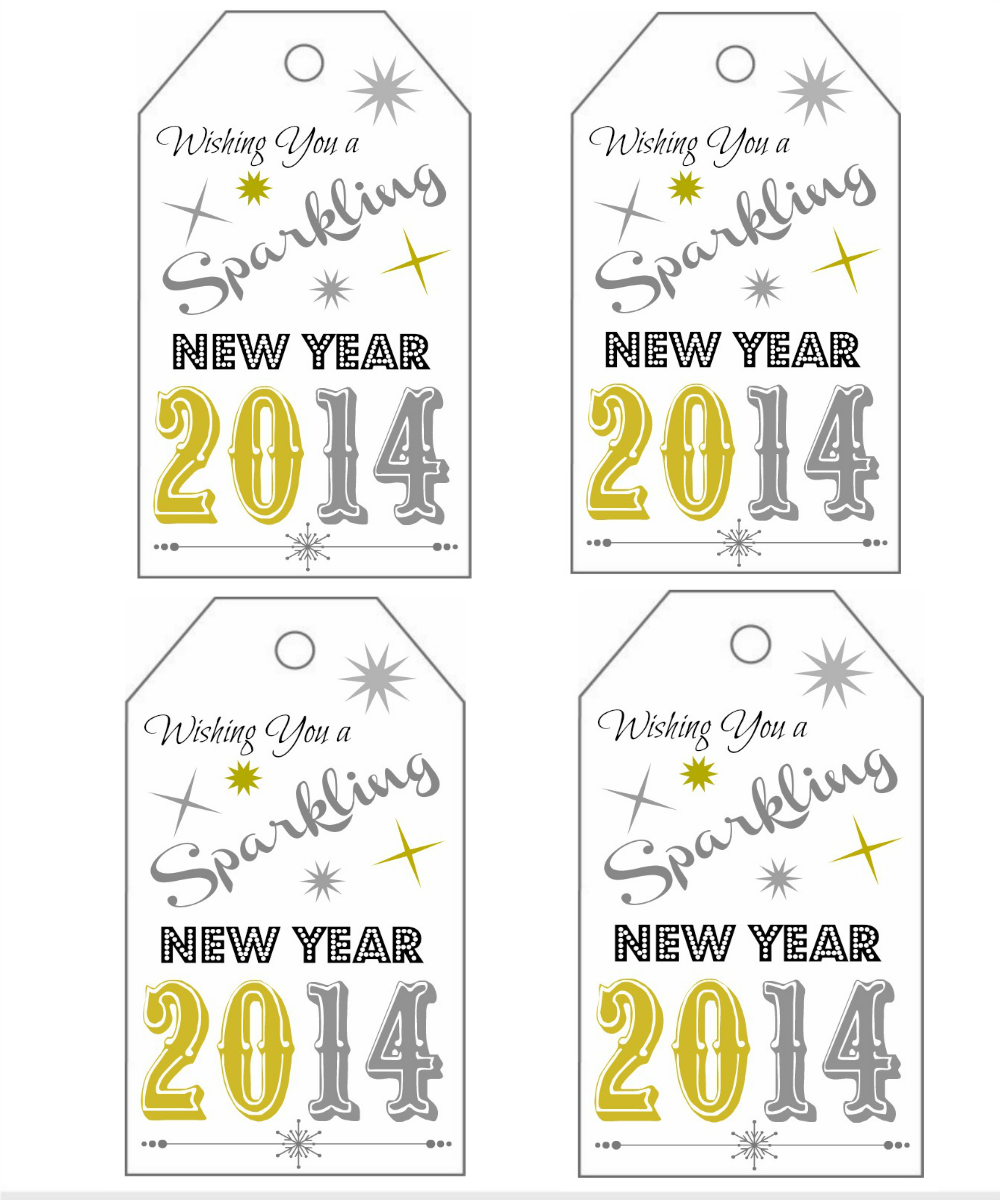 New Year's Gift Tags Printable