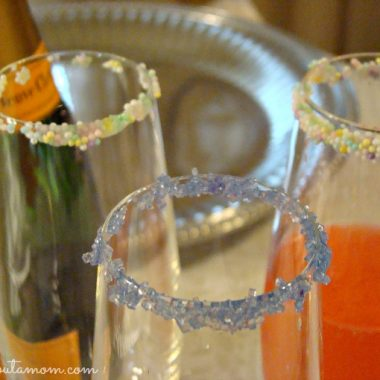 Sprinkle Dipped Champagne Glasses