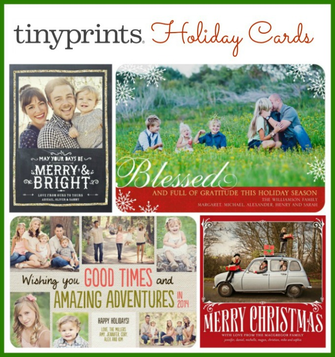 Tiny Prints Holiday Cards #TinyPrintsCheer {Giveaway} - About A Mom