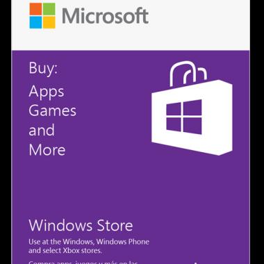 Windows App Store Gift Card