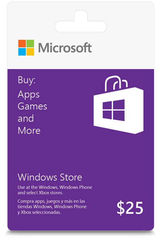 Windows App Store Gift Card