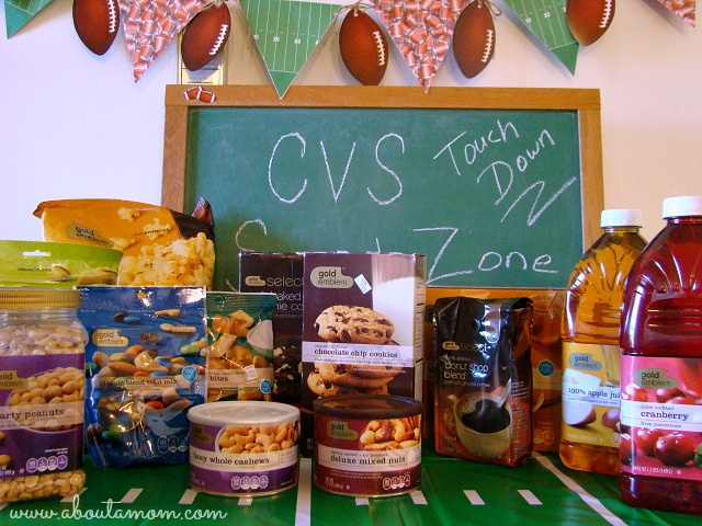 Game Day Party Ideas with CVS Gold Emblem Snacks