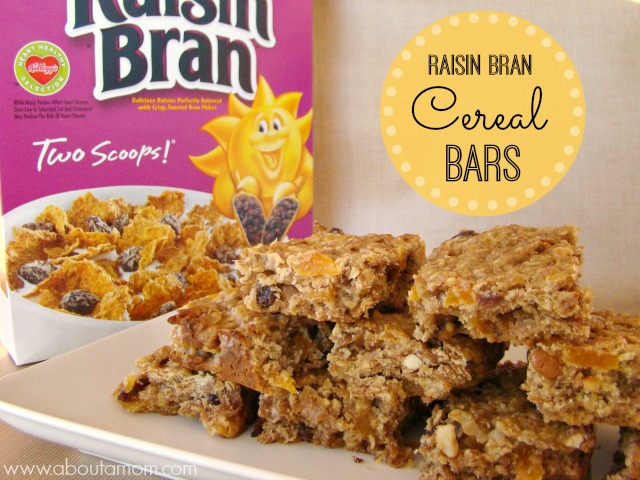 Freestyle cereal bars recipe about a mom kelloggs raisin bran cereal bars recipe ccuart Image collections