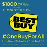 JOIN ME AT THE BEST BUY #ONEBUYFORALL TWITTER PARTY 1/27 3PM EST