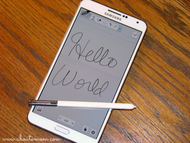 Samsung Galaxy Note 3 S Note with S Pen