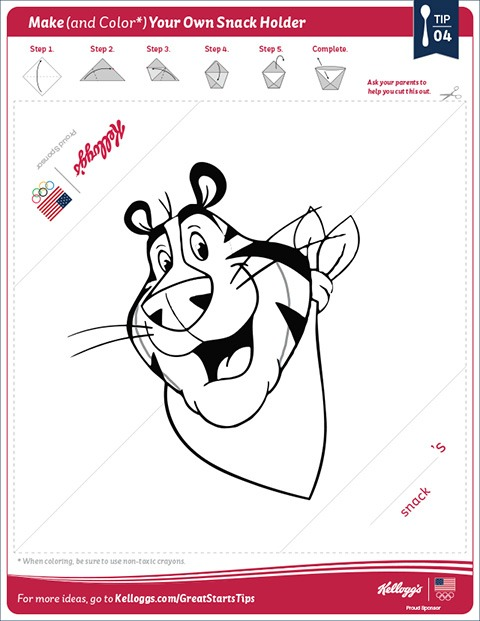 Kellogg's Snack Holder Printable