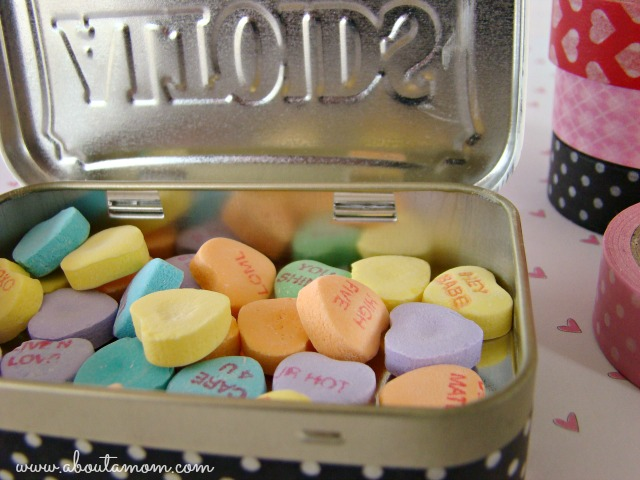 Valentine's Day Altoid Tin Makeover with Washi Tape