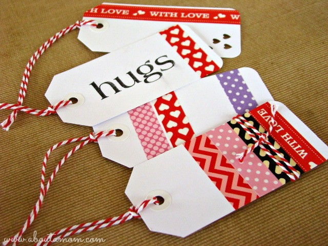 Washi Tape Valentines -  Gift Tags
