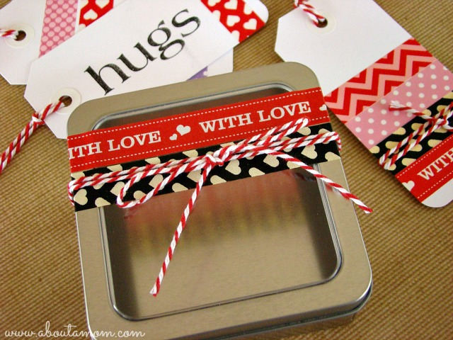 Washi Tape Valentines -  Gift Tags and Trinket Box