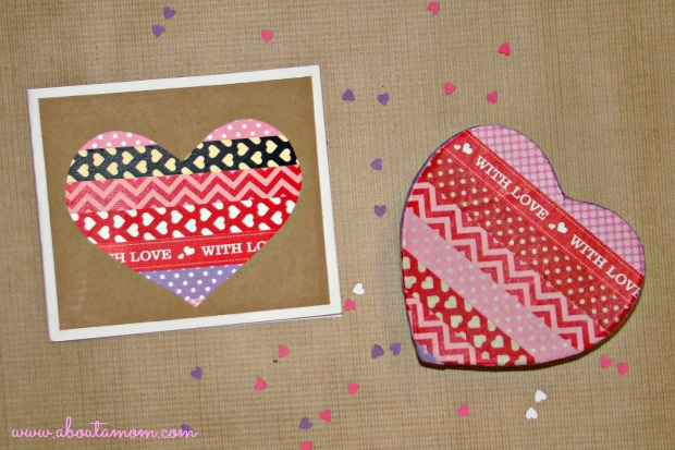 2 Fun And Easy Washi Tape Valentine S Day Crafts About A Mom