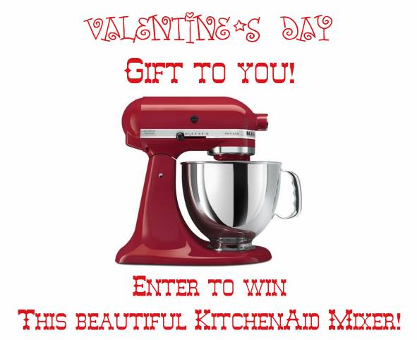 KitchenAid Mixer Valentine's Day Giveaway