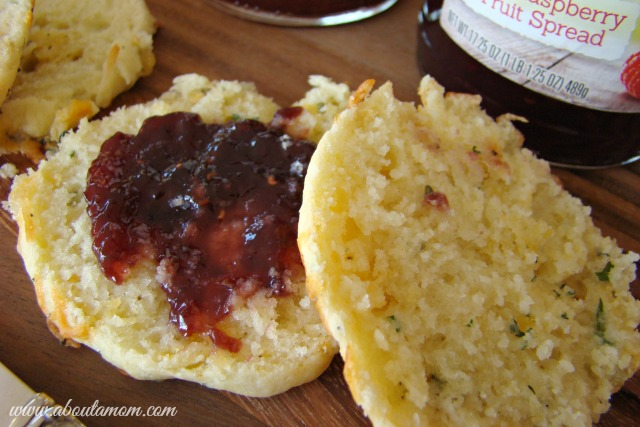 Savory Herb Buttermilk Biscuits with Smucker's Naturals Fruit Spreads