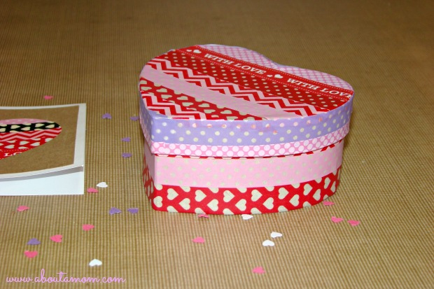 Washi Tape Heart Box