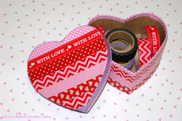 Washi Tape Heart Trinket Box