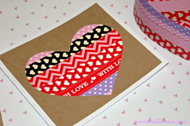 Washi Tape Heart Valentine's Day Card