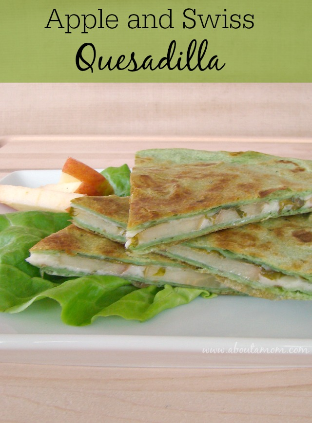 Apple and Swiss Quesadilla