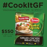 Tyson Gluten Free Fully Cooked Grilled and Ready Chicken #CookItGF Twitter Party on March 12