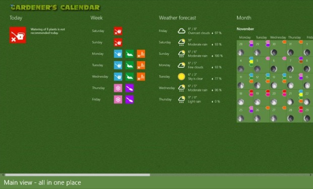 Gardening Apps for Windows 8 - Gardener's Calendar