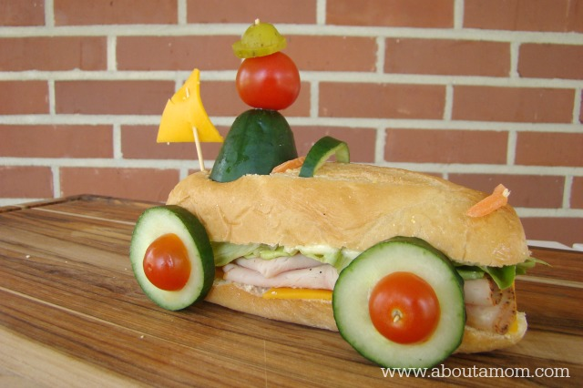 Racecar Sandwich - Fun Sandwich Ideas for Kids