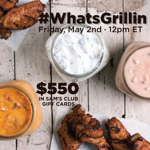#WhatsGrillin Twitter Party 5/2 at 12pm ET