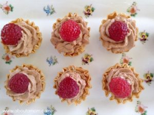 Caramel Hazelnut Mousse Tartlets