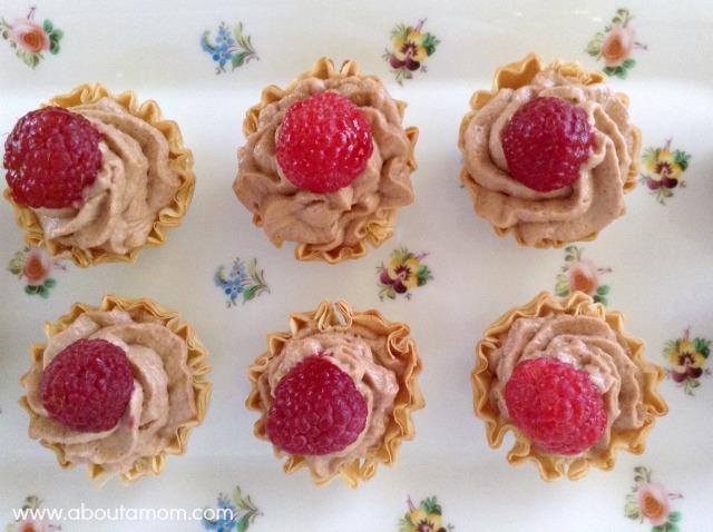 Caramel Hazelnut Mousse Tartlets - About A Mom