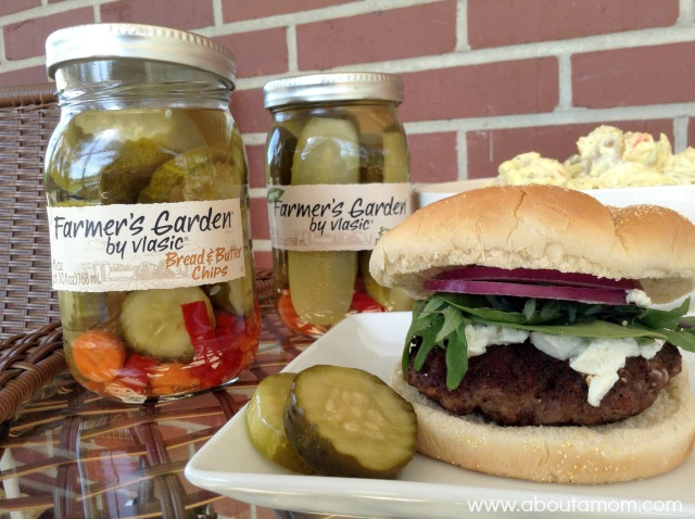 Goat Cheese Burger and Farmer's Garden Pickles