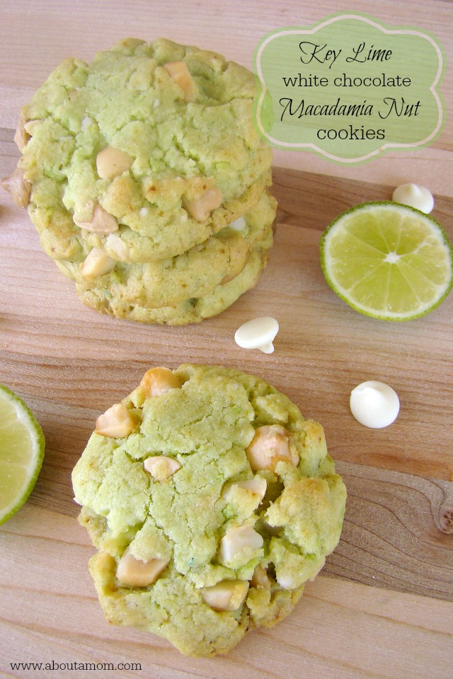Key Lime White Chocolate Macadamia Nut Cookies