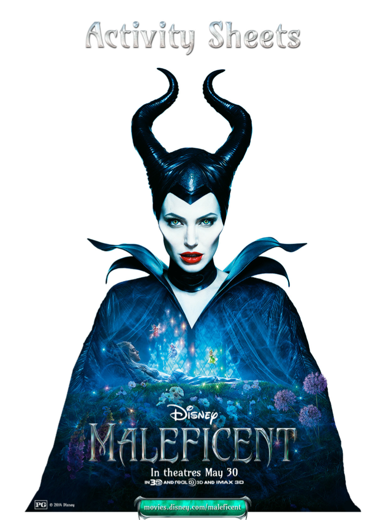 New Maleficent Coloring Pages and Activity Sheets About