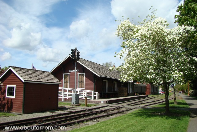 Old Train Depot in Issaquah, Washington