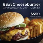 Join Me for the #SayCheeseburger Twitter Party on Wednesday, 5/28 at 1pm EST!