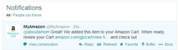 Shopping Gets Social with #AmazonCart