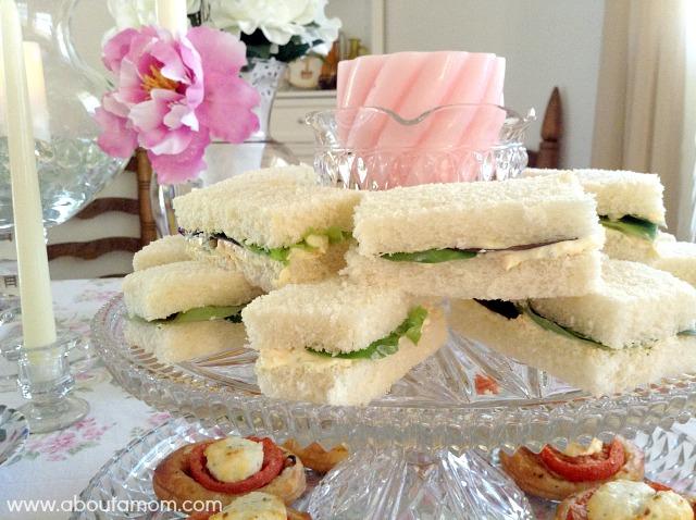 Veggie and Herb Cheese Tea Sandwiches