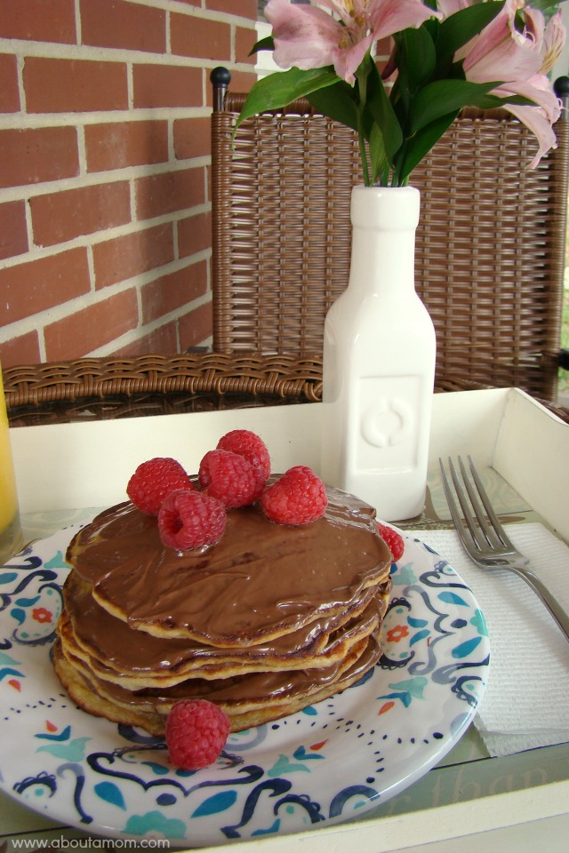 Banana Buttermilk Pancakes with Nutella