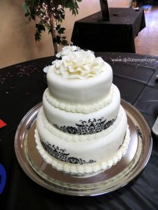 Black and White 3 Tier Cake