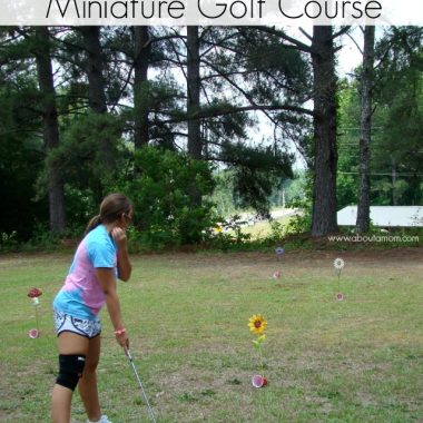How to Make Your Own Backyard Miniature Golf Course