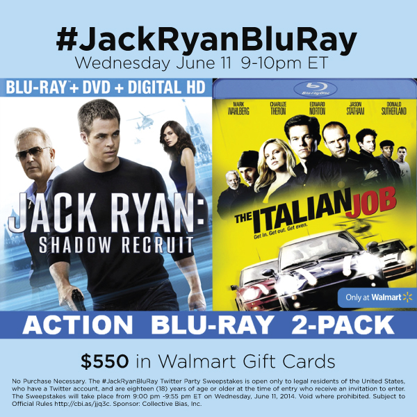 RSVP for Jack Ryan Blu-Ray Twitter Party on 6/11 #JackRyanBluRay