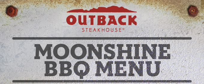 image relating to Outback Printable Menu titled Thumbs Up for the Clean Moonshine BBQ Menu at Outback