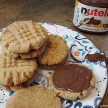 Peanut Butter and Nutella Sandwich Cookies
