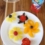Fun Summertime Food For Kids - Flower Fruit Plate