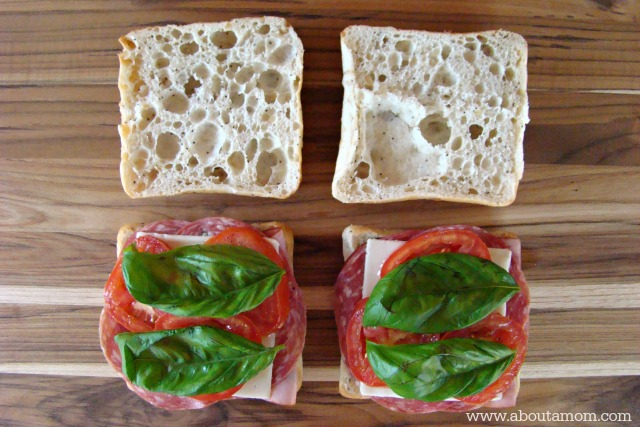 Picnic Recipes - Italian Ciabatta Sandwiches