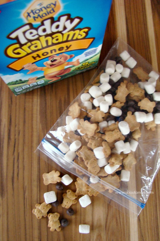 S'mores Trail Mix made with Honey Maid Teddy Grahams