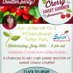 Stemilt #CherrySweet Twitter Party on 7.30 at 9pm ET