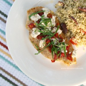 Chicken with Goat Cheese and Sun Dried Tomatoes