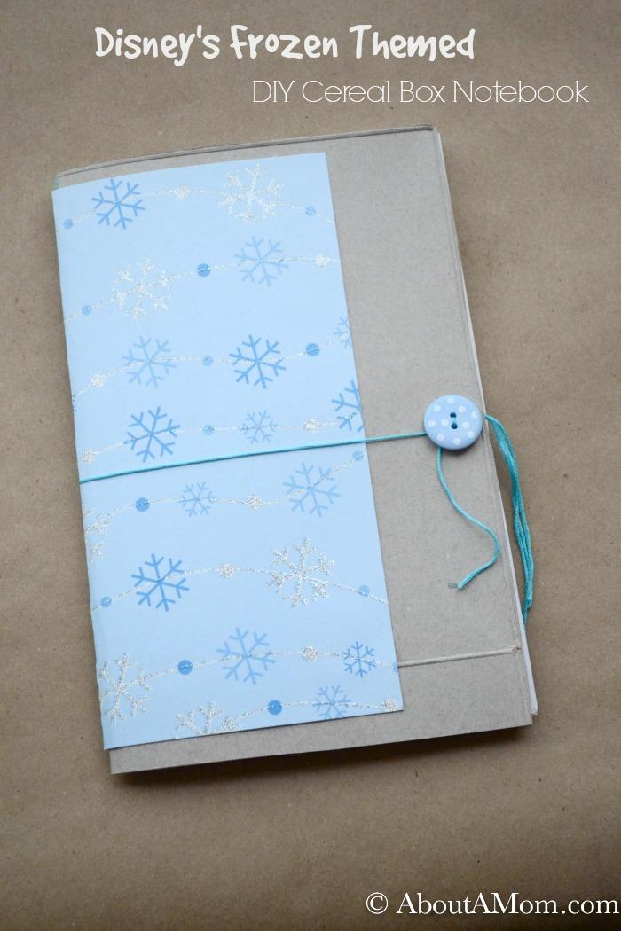 diy cereal box notebook