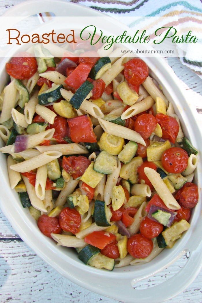 Vintage, Paint and more... roasted vegetable pasta feature