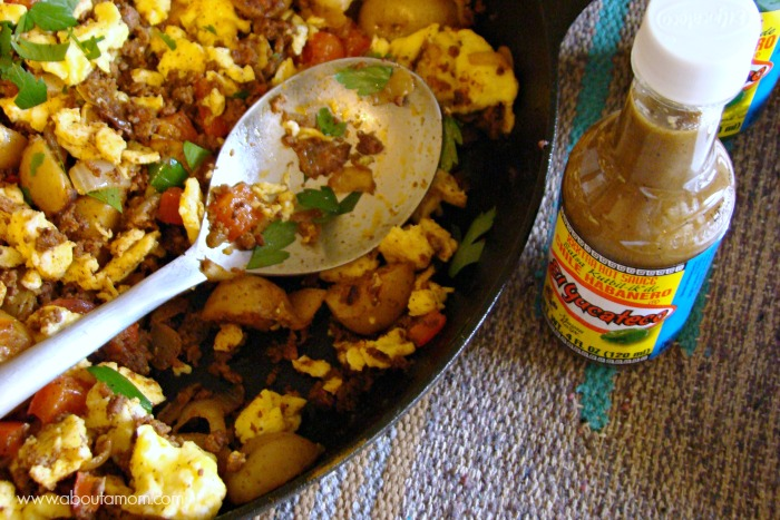 Spicy Breakfast Skillet with El Yucateco Hot Sauce