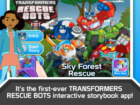 Transformers Rescue Bots Sky Forest Rescue App