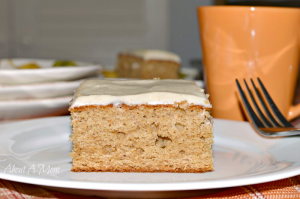 Apple Butter Cake with Cinnamon Cream Cheese Frosting