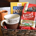 National Coffee Day - Coffee and Friends Gift Basket featuring Eight O' Clock Coffee